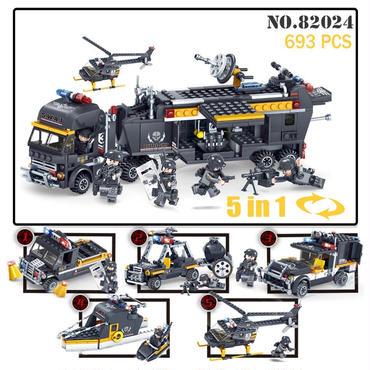 レゴ互換 軍事SWAT(スワット)チーム ブロック 82024 693ピース