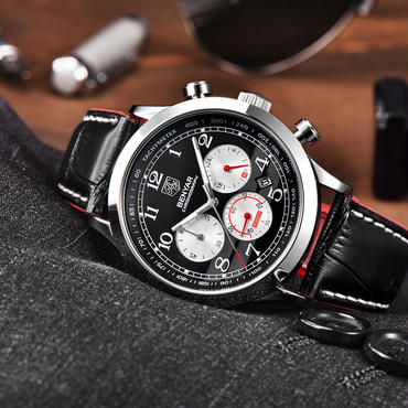 Benyar クロノグラフ腕時計 クォーツ メンズ