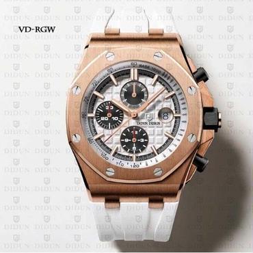 DIDUN DESIGN クォーツ腕時計 クロノグラフ   ロイヤルオーク風 ラバーバンド 防水