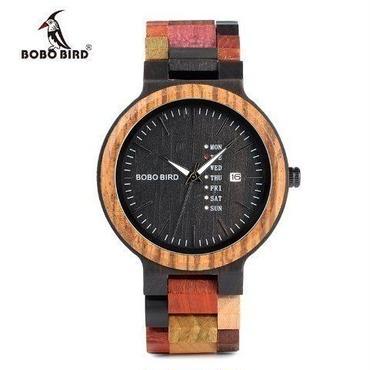 BOBO BIRD 木製腕時計 ユニセックス  カラフル