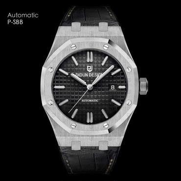 Didun 腕時計 メンズ 自動機械式 レザーストラップ
