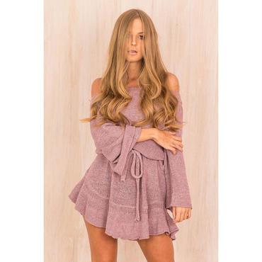 TESSCARA ニットドレスカジュアルセーター セクシーファッション