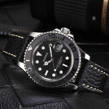 Parnis 機械式腕時計 50m防水 レザー