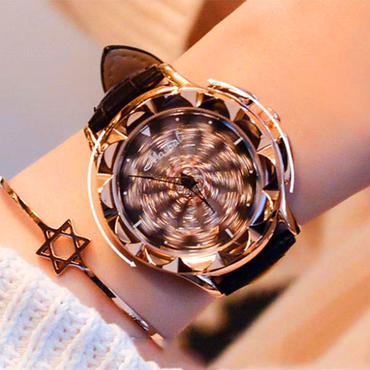 Mashali ぐるぐる腕時計 ラインストーン
