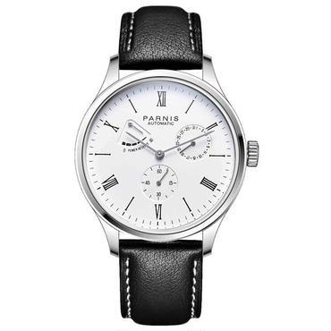 Parnis(パーニス ) メンズ パワーリザーブ  機械式腕時計 防水