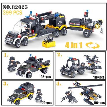 レゴ互換 軍事SWAT(スワット)チーム ブロック 82025 399ピース