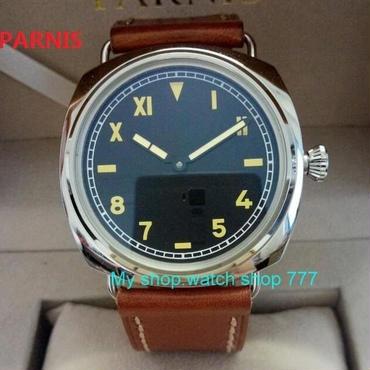 Parnis(パーニス)手巻き腕時計 47mm  ブラックダイアル