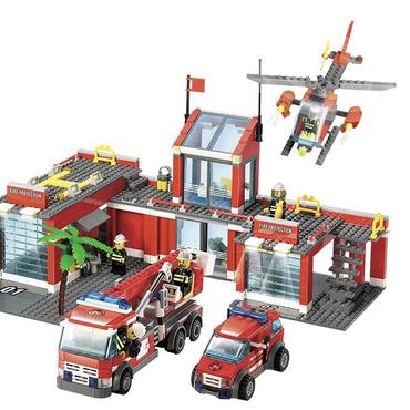 レゴ互換 消防署本部ビルディングブロック