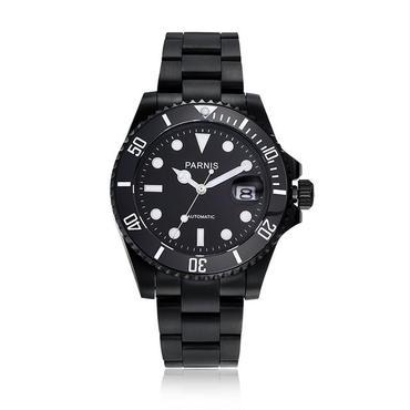 Parnis(パーニス ) メンズ 機械式腕時計 防水 セラミックベゼル ステンレスバンド