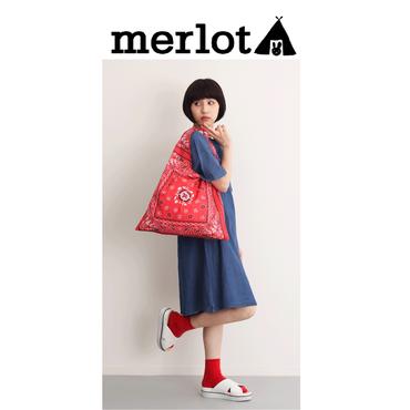 ☆【 merlot メルロー 】 バンダナ動物バッグ メルローバンダナトート メルロートートバック メルローバック メルロートート