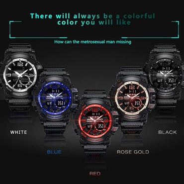 海外ブランド メンズスポーツ腕時計 防水 ミリタリー LEDデジタルクオーツ電子時計 スポーツ 機能性バツグン!