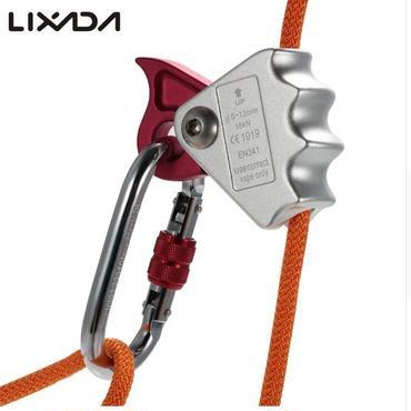 新品★ 15kNロッククライミングロープ グラブ保護装置 9-12mmロープ用