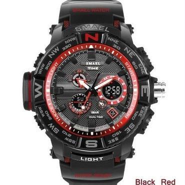 メンズ腕時計 スポーツ デュアルディスプレイ LED デジタル アナログ クォーツ 30m防水 海外人気ブランド