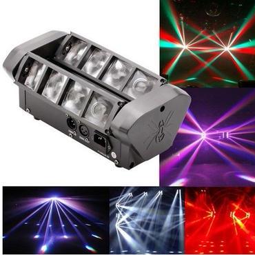 【ステージビームライト】90W RGBW 6/12チャンネルLED DMX512 サウンドアクティブミニスパイダー ディスコKTVクラブパーティー