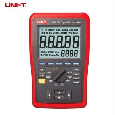 デジタルマイクロオームメータ UT620A 抵抗メータ 上限/下限アラームおよびバックライト付
