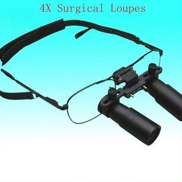 4倍双眼ルーペ 歯科 医療 ケプラー式  精密作業  宝石加工 指紋識別 作業距離6種類より選択可能