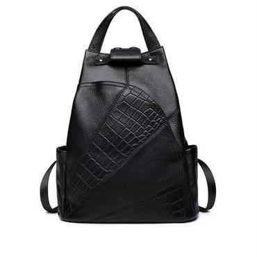 Zooler 牛革バックパック 高品質レザー 女性バックパック ダブルストラップバッグ