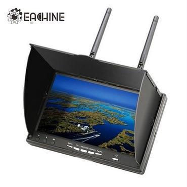 録画機能付きfpvモニター おすすめ ドローン Eachine LCD5802D 5802 5.8G DVR録画可能7インチFPVモニター内蔵バッテリー