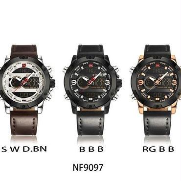 高級ブランド メンズ アナログ デジタル レザー スポーツ腕時計 ミリタリー クォーツ時計