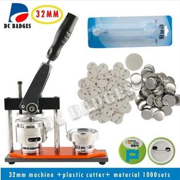 缶バッジマシーン 32mm + サークルカッター + ボタンバッジ1000個付 バッヂ制作一式