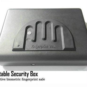 金庫 指紋認証金庫 セキュリティ強!ポータブル 車載 貴重品 ジュエリー 安全なロック