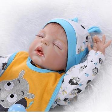 リボーンドール ベビー人形 ベビードール リアル赤ちゃん人形 抱き人形 シリコン お風呂可能♪ 高級海外ドール 約55cm 男の子 安らか寝顔