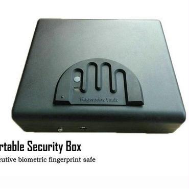 金庫 指紋認証金庫(大) ポータブル 貴重品 ジュエリー 安全なロック 車載