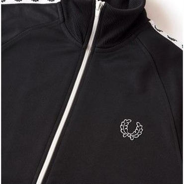 FRED PERRY★Laurel Wreath Taped Track Jacket ジャケット ブラック