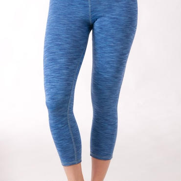 Blue space dye capri