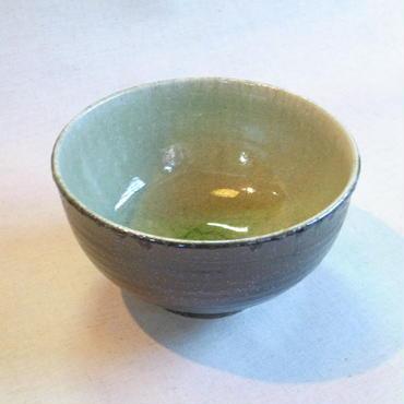 灰釉 中丼(黒化粧)
