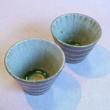 灰釉小鉢(黒化粧横線)