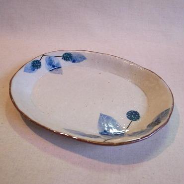 野苺タタラ楕円皿 (中)