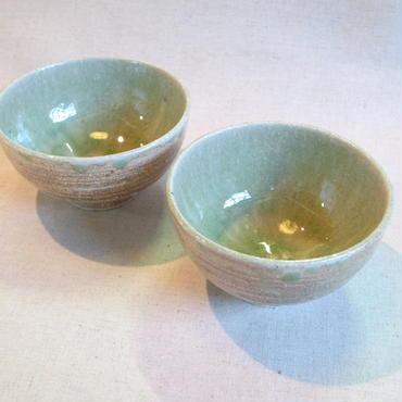 灰釉飯碗(白化粧)