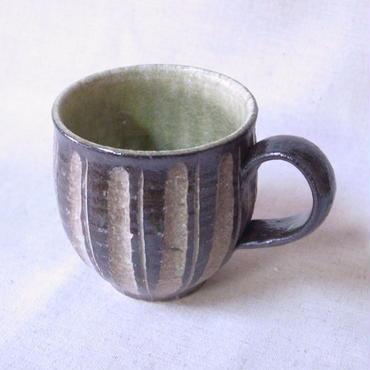 灰釉 鎬 マグカップ