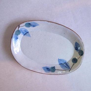野苺タタラ楕円皿(小)