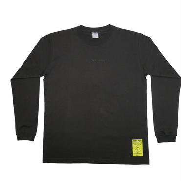 ''M POWER'' LS TEE CHARCOAL GREY