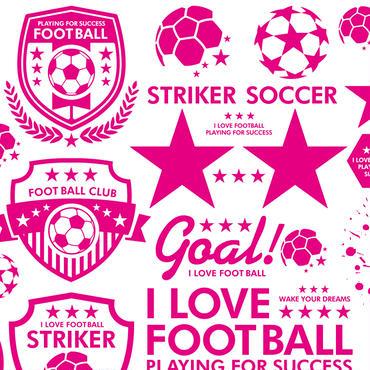 サッカー&フットサル(ピンク)