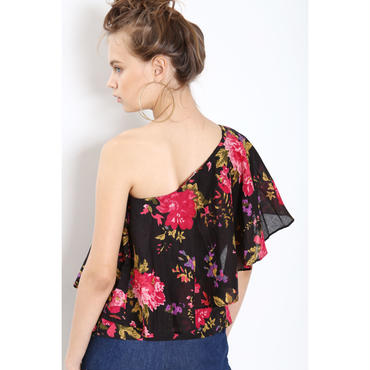【KiiRA】FLOWER ONE SHOULDER TOPS /ki-3019