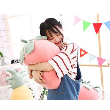 イチゴ  パイナップル  ぬいぐるみ    抱き枕  もちふわクッション 36cm
