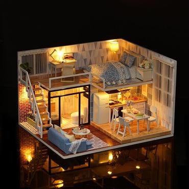 ミニチュア・アパート LEDライト 音楽