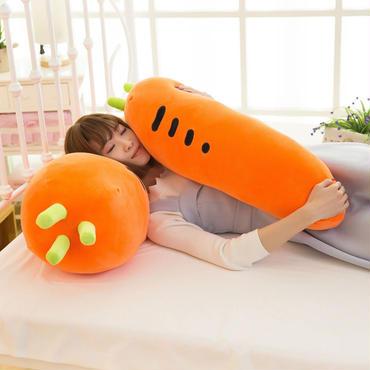 人参 ニンジン  ぬいぐるみ    抱き枕  もちふわクッション 55cm