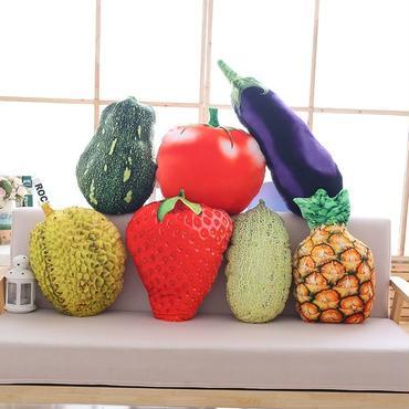 果物 野菜   ぬいぐるみ   抱き枕  もちふわクッション 35cm