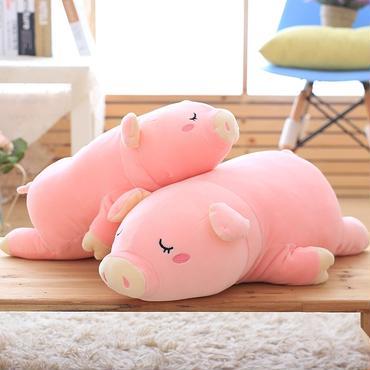 ブタ ぬいぐるみ 抱き枕  もちふわクッション 55cm