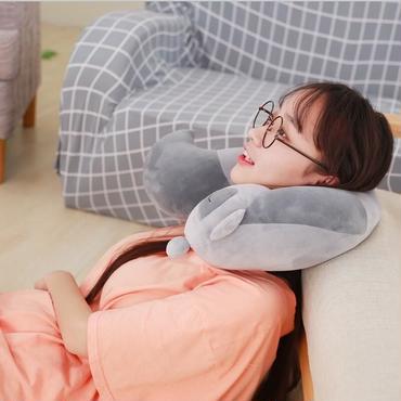 キツネ ピロー ネックマクラ ぬいぐるみ  旅行枕 お昼寝枕 42cm*32cm