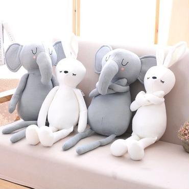 ゾウ ウサギ   ぬいぐるみ  編みぐるみ  可愛い 50cm