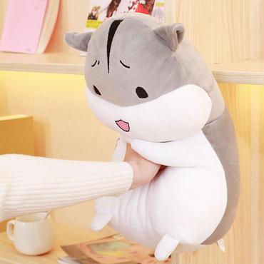 ネコ  ハムスター   抱き枕  もちふわクッション ぬいぐるみ 50cm