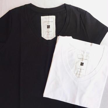 【 REMANIANOWORKS 】100%オーガニックコットン UneckTシャツ