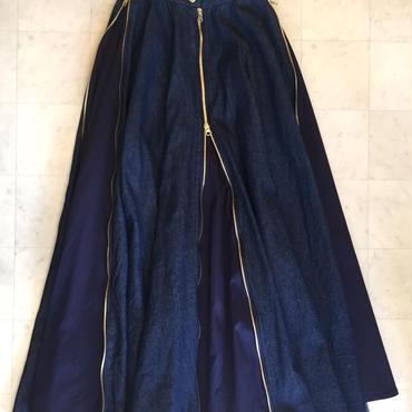 【 REROS 】Denim zip skirt
