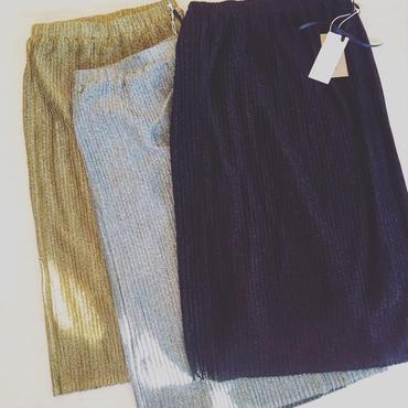 【 mania TOKYO 】Glitter pleat skirt