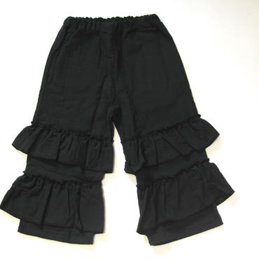 【 UNIONINI 】gauze frill pants
